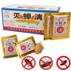 Effective cockroach killer - powder bait - insecticide - pest control - 10 pieces