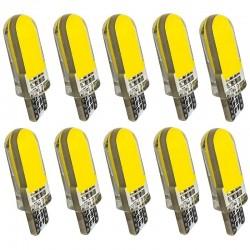T10 - W5W - silicone case COB LED bulbs - 10pcs