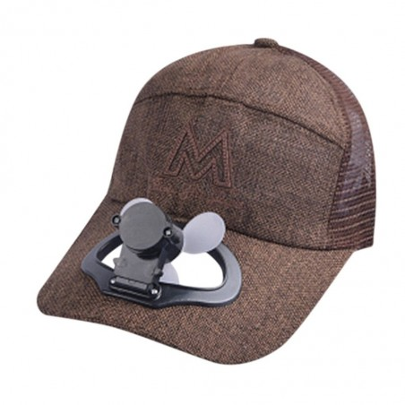 Baseball cap with electric fan - unisex