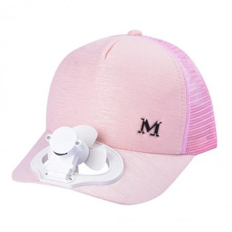 Baseball cap with electric fan - unisex