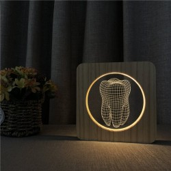 3D tooth shaped night lamp - LED - USB