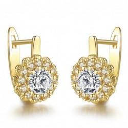 Crystal earrings - flower shape