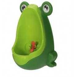 Boys pee training - teaching potty - frog design