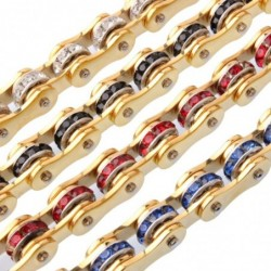Motorcycle chain bracelet -...