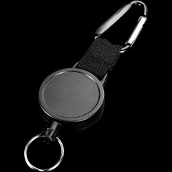 Keychain with retractable wire rope - anti-theft - 80cm