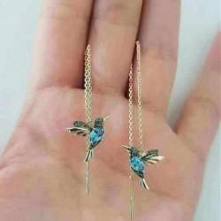 Elegant drop earrings with a little birds