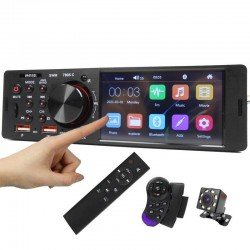 """Bluetooth car radio - 4.1"""" - 1 Din - TF - USB - ISO - MP5 player - touch screen - fast charging"""