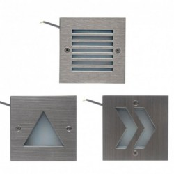 Wall / stairs / outdoor lamp - stainless steel - IP65 waterproof - LED light - 3W