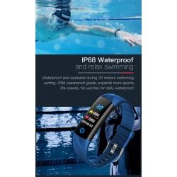 Smart Watch - sports bracelet - Bluetooth - fitness tracker / blood pressure / heart rate monitor - IP68 waterproof