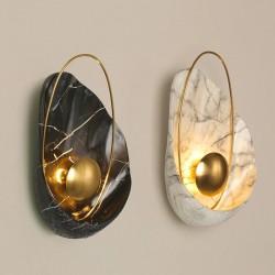 Modern resin wall lamp - LED - shell shape