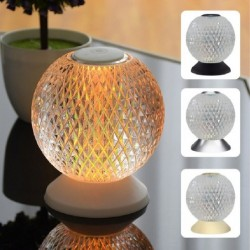 Italian night lamp - round crystal ball - USB - touch sensor