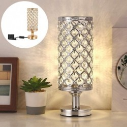 Crystal night lamp - hollow-out - carved design - USB