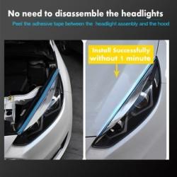 Car LED strip - DRL - turn signal light - flexible - waterproof - 12V - 2 pieces