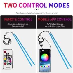 Car LED strip light - flexible - waterproof - DRL - RGB - Bluetooth control / remote - 12V - 2 pieces