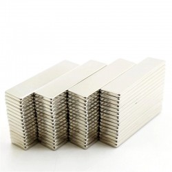 N52 Neodymium magnets - strong - rectangular - 40 * 10 * 2mm - 10 pieces