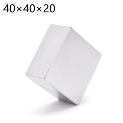 N52 - neodymium magnet - strong - cuboid - 40 * 40 * 20mm