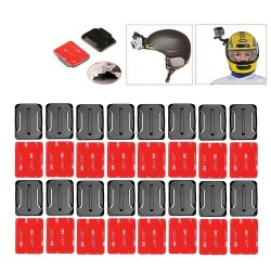 GoPro Helmet Accessories Curved Adhesive Mounts + Sticker 16pcs