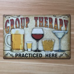 Vintage Metal Sign Wall Sticker
