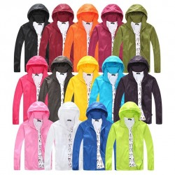 Casual Thin Windbreaker Hooded Jacket With Zipper