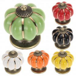 Vintage Pumpkin Door Drawer Cabinet Wardrobe Pull Handle Knobs