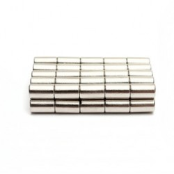 N50 Neodymium Magnet Strong Disc 6 * 10mm 50pcs
