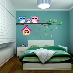 Owl Birds Removable Vinyl Wall Sticker |