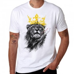 King Of Lion Printed Cotton Men's T-shirt