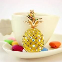 Crystal pineapple keychain