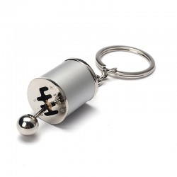 Car gear shift keychain keyring