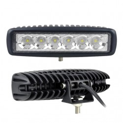 12V - 18W - LED work light for motorcycle - boat - car 4x4 - SUV - ATV - spot / flood lamp - 2 pieces