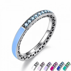 925 Sterling Silver Radiant Zircon Hearts Women's Ring