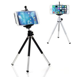 iPhone Samsung HTC 6NEB Mini 360 Rotating Stand Tripod Mount & Phone Holder
