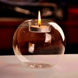Portable Classic Crystal Glass Candle Holder