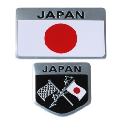 Metal Japanese Flag Emblem Badge Japan Car Sticker