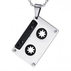 Punk Cassette Tape Pendant Stainless Steel Necklace Unisex