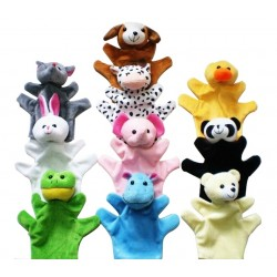 10 Plush Finger Puppets Baby Dolls