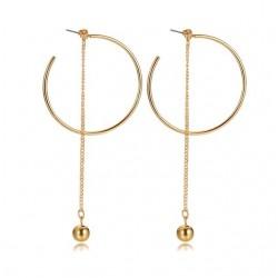 Ball & Hoops Long Earrings