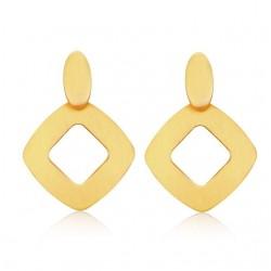 Geometric Gold Stud Earrings