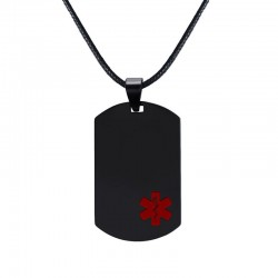 Medical sign pendant - leather necklace - unisex