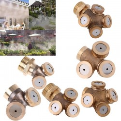 4 Holes Adjustable Brass Spray Nozzle Garden Sprinkler