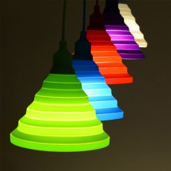 Silicone pendant light bulb holder lampshade E27