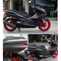 Motorcycle matte black vinyl wrap sticker