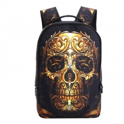3D Skull design backpack canvas