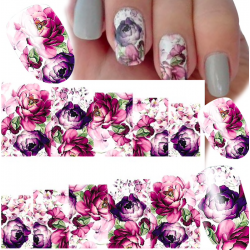 Nail art water transfer full cover sticker
