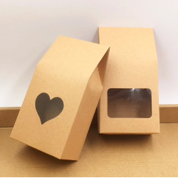 Brown kraft paper bags boxes 50 pcs