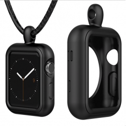 Apple Watch 1/2/3/4 series silicone frame case cover with necklace