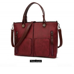 Elegant leather big bag