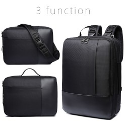 3 mode function backpack nylon waterproof shoulder bag