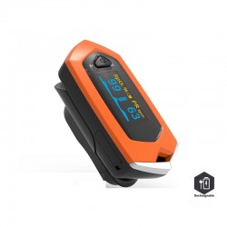 Finger pulse oximeter - blood heart rate monitor - rechargeable