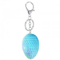 Glitter sequins dragon egg keychain keyring